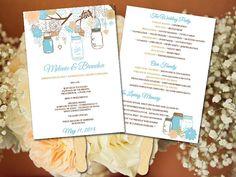 Beach wedding program fan destination wedding program fan wedding fan template mason jar program printable program diy wedding program fan program template wedding program fan diy ceremony program solutioingenieria Choice Image