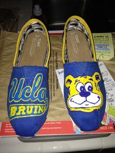 Custom UCLA TOMS by NickisKicks on Etsy, $120.00
