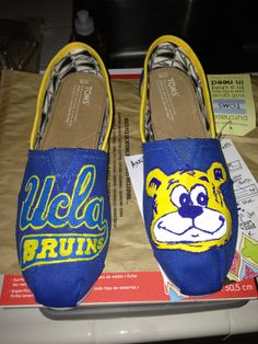 Custom UCLA TOMS by NickisKicks on Etsy, $120.00
