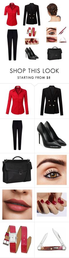 """""""Claire Valentine"""" by amykershaw ❤ liked on Polyvore featuring LE3NO, Miss Selfridge, Escada Sport, Off-White, Kenneth Cole Reaction, SoGloss and Rebecca Minkoff"""