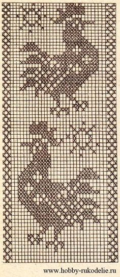 Фриформ, ирландское кружево и другое вязание. Filet Crochet Charts, Crochet Diagram, Crochet Stitches Patterns, Knitting Charts, Embroidery Patterns, Cross Stitch Bookmarks, Cross Stitch Bird, Cross Stitch Designs, Cross Stitch Embroidery
