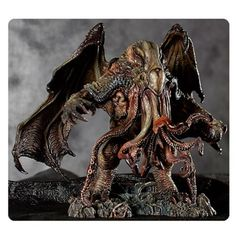 H.P. Lovecraft Cthulhu Statue by Paul Komoda - Free Shipping   From H.P. Lovecraft and artist Paul Komoda comes the H.P. Lovecraft Cthulhu Statue by Paul Komoda! Available for the first time as a high quality prepainted statue this original vision of Cthulhu pushes the design to new and exciting heights. Every detail is expertly captured from the suckers on the tentacles to the sinewy texture of the massive wings. With paint by David Dill this polystone statue is approximatley 7-inches tall.