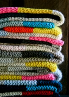 Colorblock Crochet Blankets via The Purl Bee | francoisetmoi.com