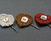 Set de 3 bijoux de cheveux 'Coeur'