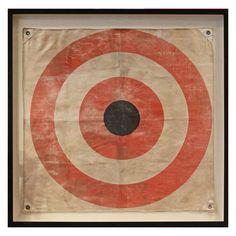 archery bullseye on canvas for boys room