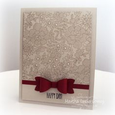summer seasonal catalogue, new lace background stamp and the new bow builder punch - genius!