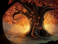 Autumn Tree ~ by Angela-T on deviantART