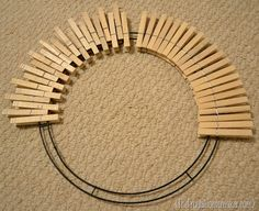 Pinterest inspired project: Clothespin wreath