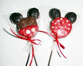 Disney Minnie Mickey Mouse Chocolate Oreo Cookie Lollipops via Etsy. (execution is poor but the idea is cute) but in a cake pop by Leigh! Minnie Mouse Pink, Mickey Mouse And Friends, Mickey Minnie Mouse, Disney Mickey, Disney Cruise, Mickey Mouse First Birthday, Mickey Party, Disney Cookies, Twins 1st Birthdays