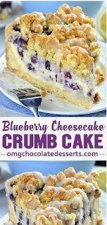 Blueberry Cheesecake Crumb Cake | Tedi Recipes