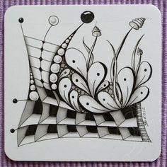 Zendoodle Step by Step - Bing Images Zentangle Drawings, Doodles Zentangles, Doodle Drawings, Tangle Doodle, Zen Doodle, Doodle Art, Zantangle Art, Zen Art, Doodle Patterns