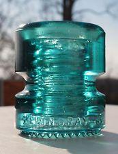 Aqua CD 185 HEMINGRAY-95 Glass Insulator - NEAR MINT!