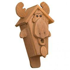 Amish #Moose #Face Rustic #Birdhouse - Amish Bird Houses