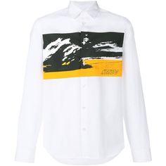 Kenzo Kenzo Men's White Cotton Shirt   Bluefly.Com (5,420 MXN) ❤ liked on Polyvore featuring men's fashion, men's clothing, men's shirts, white, off white mens clothing, organic cotton men's clothing, mens white cotton shirts, men's apparel and mens cotton shirts