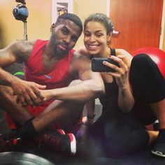 Pin for Later: You'll Love Scrolling Through These Cute Celeb Couples' Snaps Jason Derulo and Jordin Sparks Workout selfies and more show a really sweet side of these two.