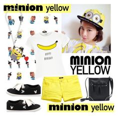 """""""Minion Yellow"""" by paculi ❤ liked on Polyvore"""