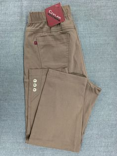 Spodnie z bengaliny Cevlar B03 kolor cappucino - Big Sister