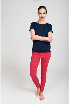 ccb05485de585 Asquith ethical activewear, model wears bamboo yoga top and flamingo pink  bamboo yoga leggings.
