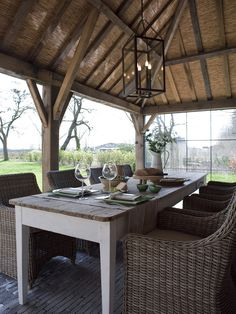 Outdoor living in the Country Indoor Outdoor Living, Outdoor Areas, Outdoor Dining, Outdoor Tables, Outdoor Structures, Outdoor Decor, Porch Fireplace, Belgian Style, D House
