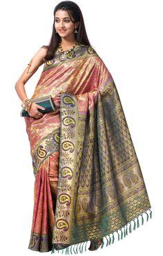 Stunning pattu silk saree