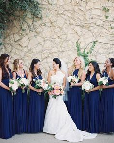 i never thought i would like dark blue as a wedding color but the