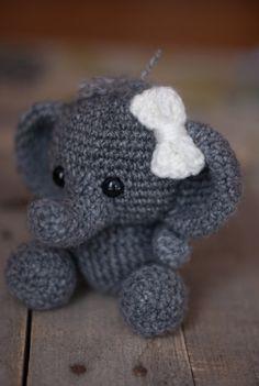 PATTERN: Crochet elephant toy amigurumi von TheresasCrochetShop