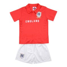 England Replica Airtex Boys 2 Piece Polo Shirt And Shorts Set. Red 2-7 Price: £4.99