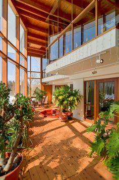 passive solar atrium - Google Search                                                                                                                                                      More