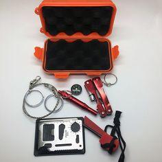 1 Unidades Equipo SOS de Emergencia Kit de Primeros Auxilios Al Aire Libre suministros de Campo Caja Para Viajes de Camping Equipo de Supervivencia Herramienta de Auto-ayuda Kits