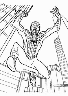 black spiderman coloring pages.html