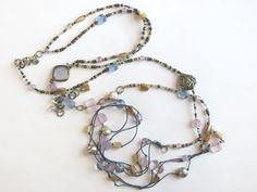 Silpada Long Purple Amethyst Pearl Brass Melange Silver Necklace N2246 Boxed | eBay