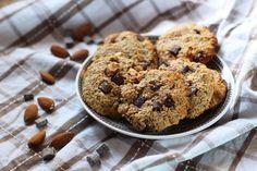 Cookies aux flocons d'avoine, amande et chocolat ! Sans sucre et healthy