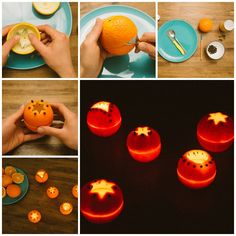 The Perfect DIY Beautiful Orange Rind Votives