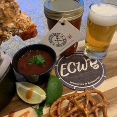 Sandwich Brewing Co. Hop the Boards IPA and Baked Hot Honey Mustard Pretzel Chicken Fingers