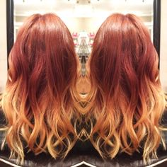 Red with blonde ends