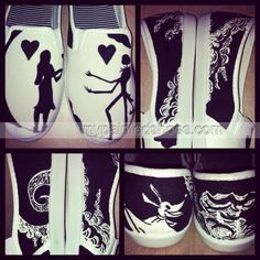 Nightmare Before Christmas Painted #Shoes Slip-on Painted Canvas