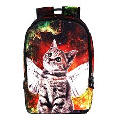 292c1bde08eab Broadmix Unisex 3D Cats and Dogs High Street Fashion Sidekick Backpack 22