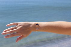 Blue Lapis Bar Cuff | Handmade Jewelry | Blue Stone Bracelet | Made in USA | Made in America | Ethical Fashion