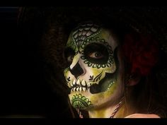 How to face paint a Mexican Day of the Dead sugar skull Tutorial how to make a mexican dead face mask