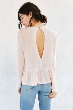 Kimchi Blue High/Low Babydoll Sweater - Urban Outfitters