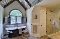Master Bedroom and Bathroom - eclectic - bathroom - atlanta - by Weidmann Remodeling .... Those shutters on the outside of the house instead
