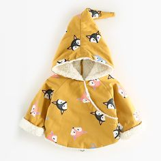 Victory! Check out my new Adorable Fox Pattern Hooded Coat in Yellow for Baby, snagged at a crazy discounted price with the PatPat app.
