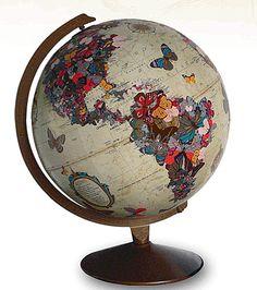Decorate a vintage globe...