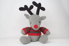 Amigurumi crochet reindeer in recycled cotton by RupertsHouse