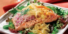 Chilled Salmon Salad with Orange Citrus Onions