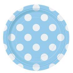 Platos Lunares Azul Celeste Peq (Pack 8)