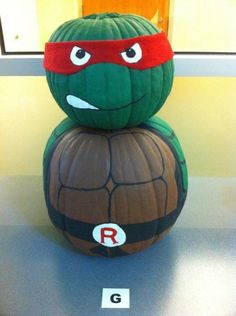 No-Carve Pumpkin Decorating Ideas You Haven't Seen Yet. Love this Ninja Turtle pumpkin idea - no carving required!