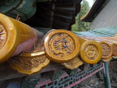 Ceramic roof detail, Summer Palace, Beijing