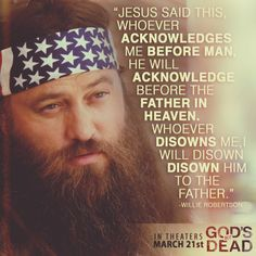 God's Not Dead - with special appearance by Willie Robertson - coming to theaters March 21st, 2014 - Pure Flix - Christian Movies - #PureFlix #ChristianMovies #WillieRobertson www.PureFlix.com www.GodsNotDead.com