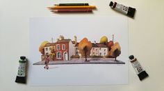 Little Houses DIN A4 print 21 x 30 cm from my by Iraville on Etsy